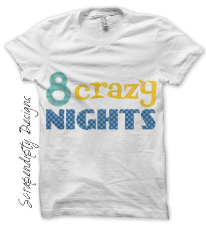 Hannukah Iron On Transfer Pattern - 8 Crazy Nights Shirt / Boys Toddler Hannukah Outfit