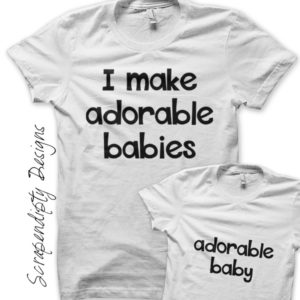 Adorable Baby Iron On Transfer Pattern - Father Son Shirts / Father's Day Outfit / New Dad Tshirt