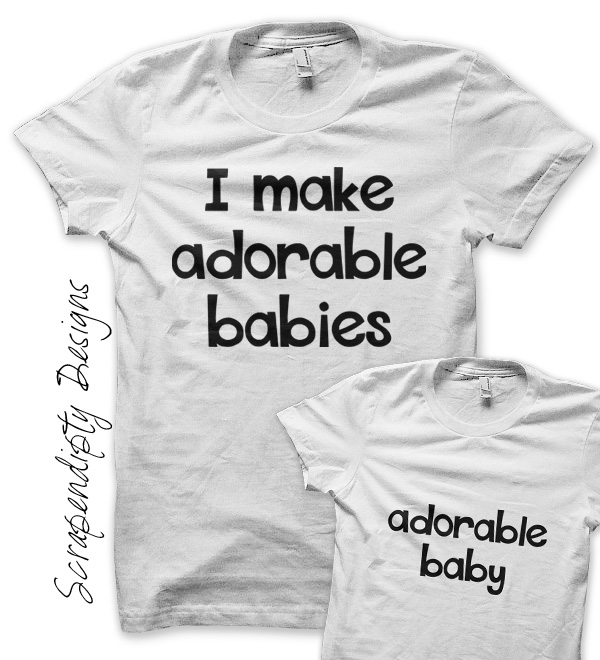 2bbc1245 Adorable Baby Iron On Transfer Pattern - Father Son Shirts / Father's Day  Outfit / New