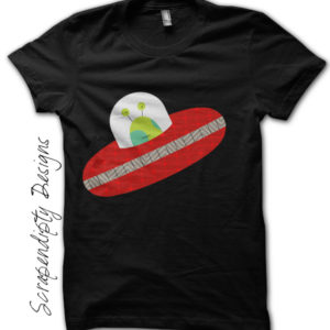 Spaceship Iron On Transfer Pattern - Boys Alien Spaceship Shirt / Space Themed Birthday Party