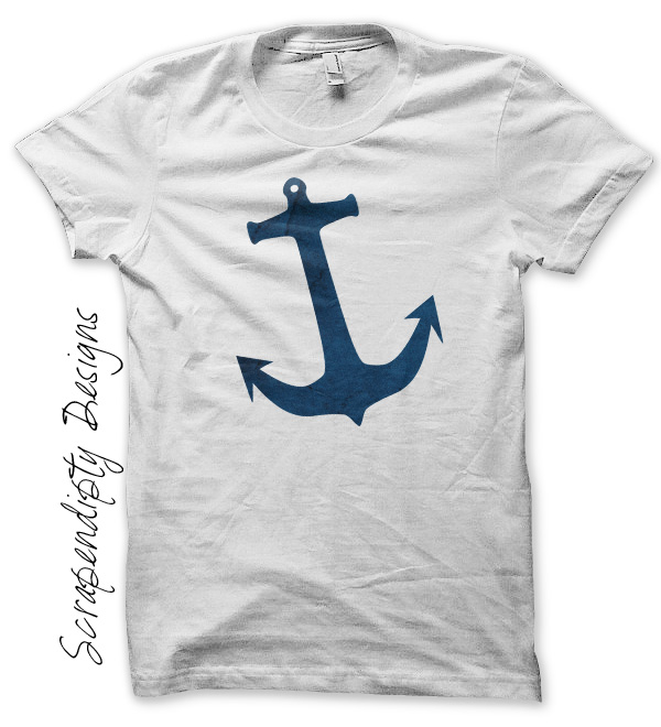 Scrapendipity Designs Anchor Shirt Womens Nautical