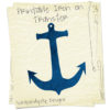 Anchor Iron On Transfer Pattern - Women's Anchor Shirt / Boys Nautical Birthday Party
