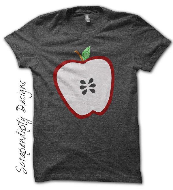 Apple Iron On Transfer Pattern - Baby Apple One Piece / Teacher's Gift / Kids Back to School Shirt