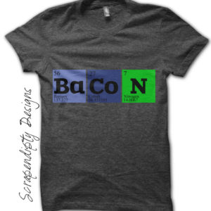 Bacon Science Iron On Transfer Pattern