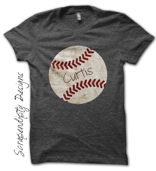 Kids Baseball Shirt Toddler Customized Tshirt Birthday Party