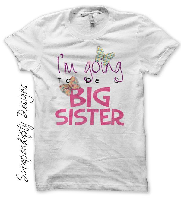 Scrapendipity Designs 187 Big Sister Shirt Pregnancy
