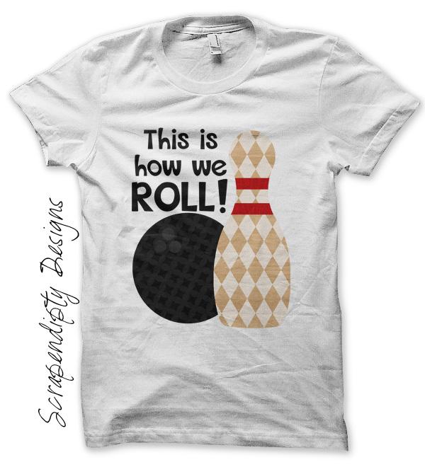 Bowling Roll Iron On Transfer Pattern Kids T Shirts Men S Team Shirt Boys Birthday Party