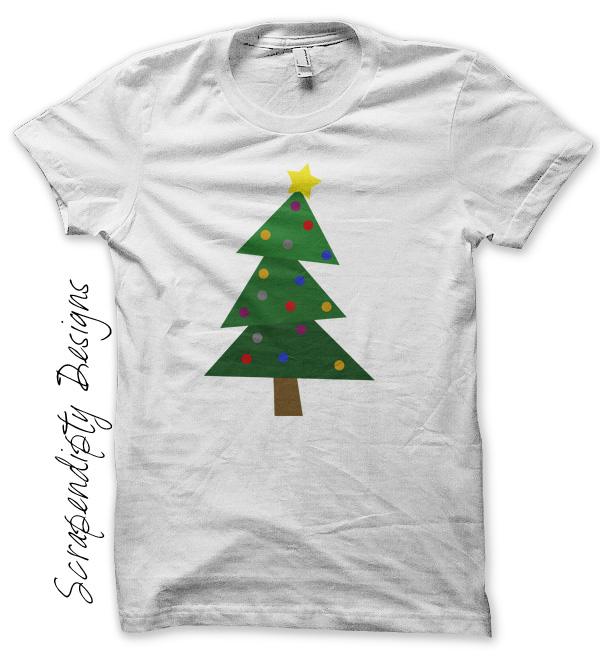 Scrapendipity Designs » Christmas Tree Iron On Transfer Pattern ...