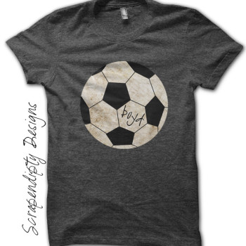 Soccer Iron On Transfer Pattern - Toddler Soccer Shirt / Sports Birthday Printable / Soccer Dad