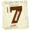 Football Number Iron On Transfer Pattern - Custom Football Shirt / Football Dad Tshirt / Printable