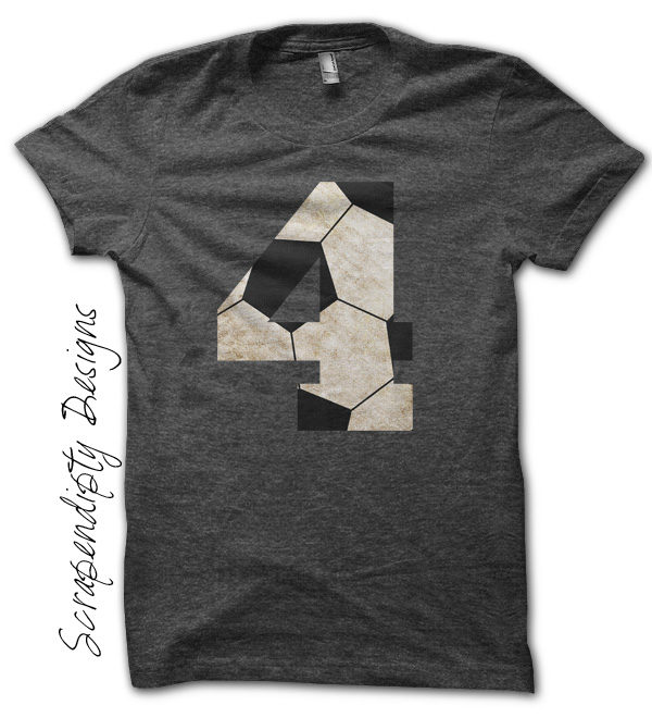 Soccer Number Iron On Transfer Pattern - Sports Birthday Party / Soccer Mom Shirt / Kids Socer Tshirt