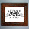 Awesome Grandma Iron On Transfer Pattern - Grandma Shirt / Birth Announcement Tshirt / Baby Shower Gift