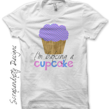 Baking a Cupcake Iron On Transfer Pattern - Pregnancy Announcement Shirt / I'm Baking a Cupcake Tshirt / New Mom Clothes