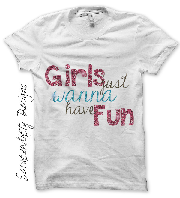 Scrapendipity designs girls fun iron on transfer pattern Girl t shirts design