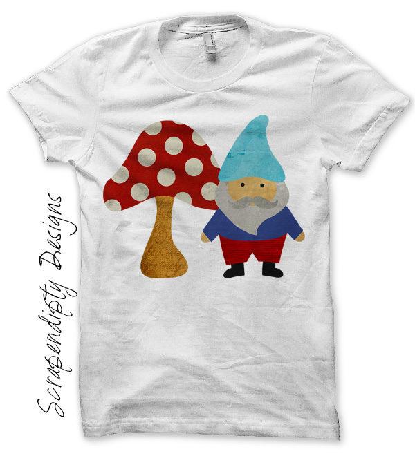 b722a51ac4d Gnome Fun Iron On Transfer Pattern – Gnome Design   Baby Girls Boys T-shirt  Tops   Cute Kids Clothes