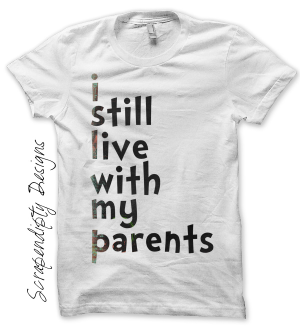 Scrapendipity Designs 187 Live Parents Iron On Transfer