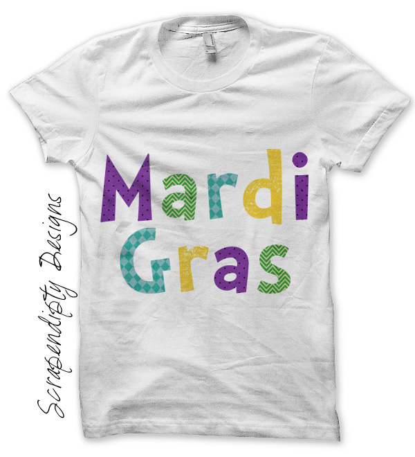 Scrapendipity Designs Mardi Gras Iron On Transfer