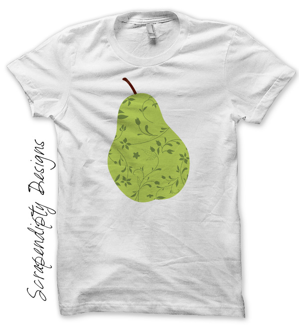 Scrapendipity Designs » Pear Iron On Transfer Pattern – Fruit Design ...