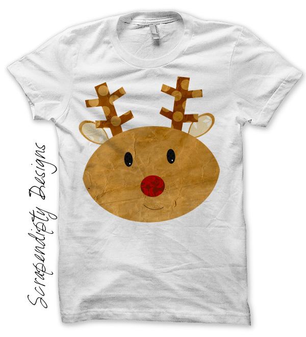 Scrapendipity Designs 187 Reindeer Iron On Transfer Pattern