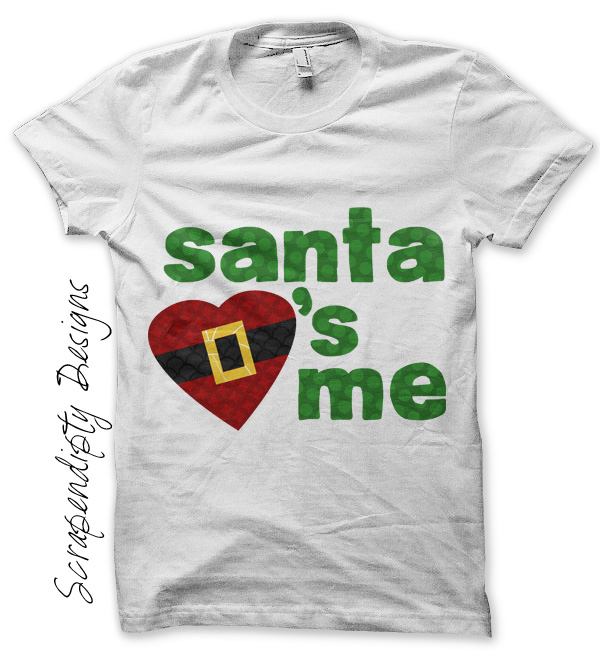 Scrapendipity Designs Santa Love Iron On Transfer Pattern Cute