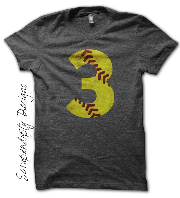 Scrapendipity designs softball shirt sports number t for Softball logos for t shirts